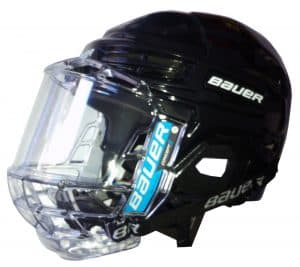 hockey pattini, casco